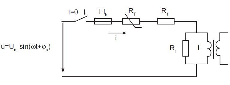 Prąd włączenia transformatorów toroidalnych pod napięcie w stanie jałowym