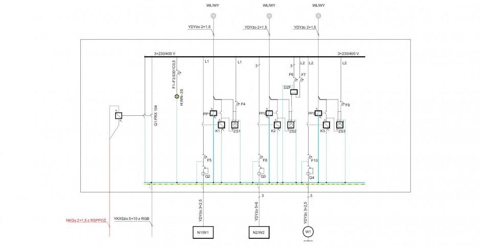 Uproszczony projekt sterowania wentylatorem oddymiającym