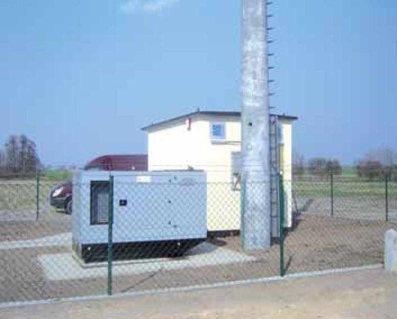 Uproszczony projekt zasilania stacji bazowej radiowego łącza internetowego