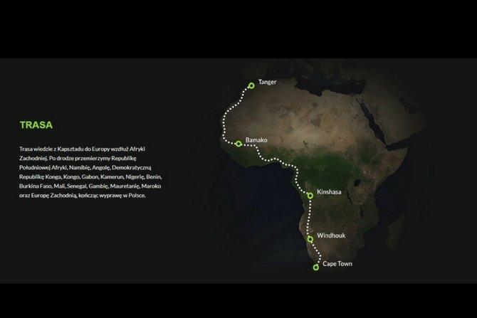 Polski podróżnik wyruszył w pierwszą wyprawę samochodem elektrycznym po Afryce