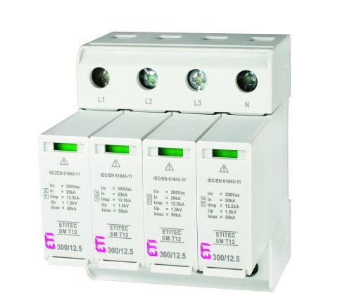 Ogranicznik przepięć typu 1 ETITEC SM T12 300/12,5 4+0