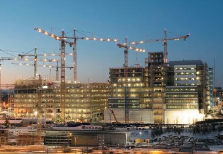Oświetlenie placu budowy