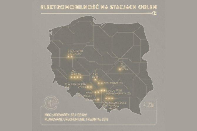 ORLEN uruchomił pierwszą stację ładowania samochodów elektrycznych