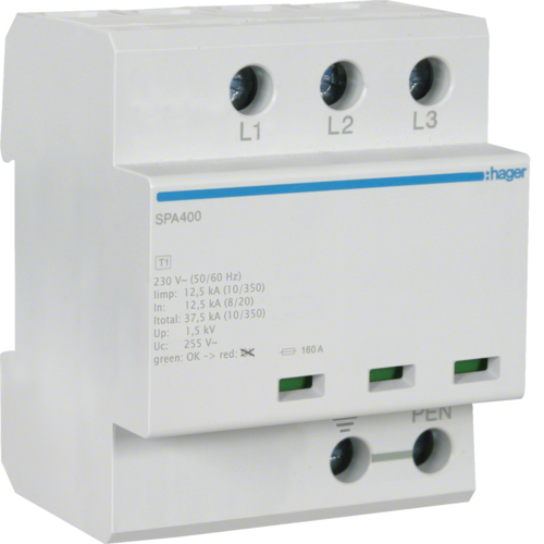 Kombinowany ogranicznik przepięć typu 1+2 SPA400