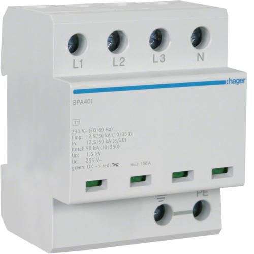 Kombinowany ogranicznik przepięć typu 1+2 SPA401