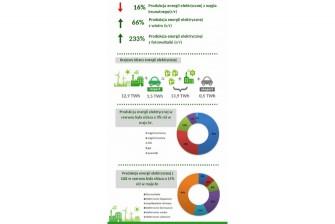 Wzrost produkcji energii elektrycznej z fotowoltaiki w czerwcu