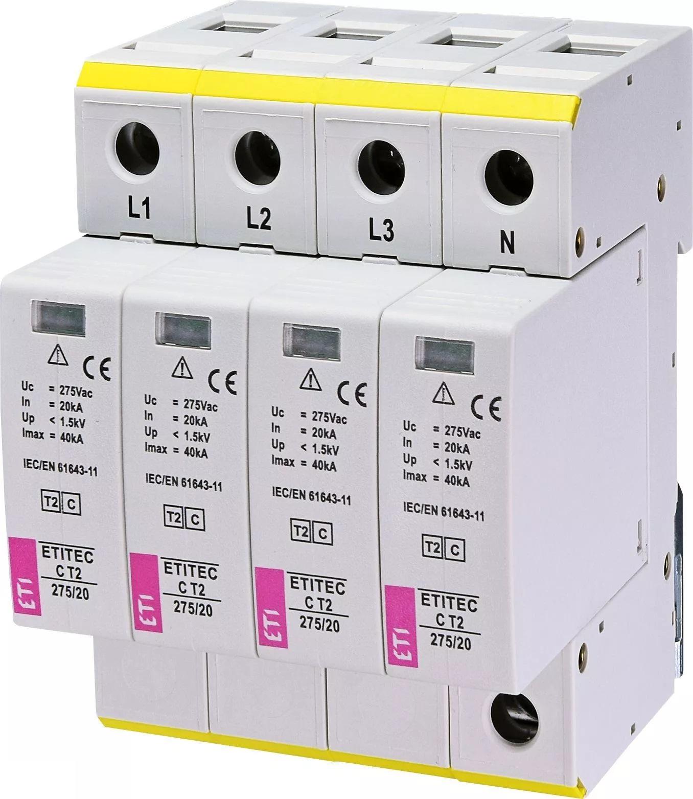 Ograniczniki przepięć typu 2 ETITEC C T2275/20 4+0