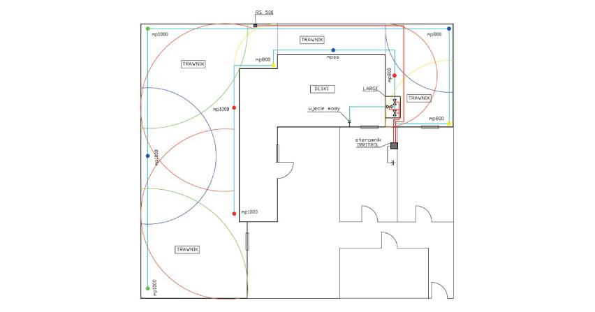Uproszczony projekt sterowania automatyką nawadniania trawnika tarasowego