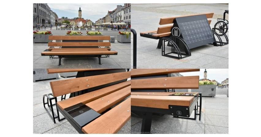Smart-mieszkańcy wybierają smart-rozwiązania, czyli solarne ławki w Białymstoku