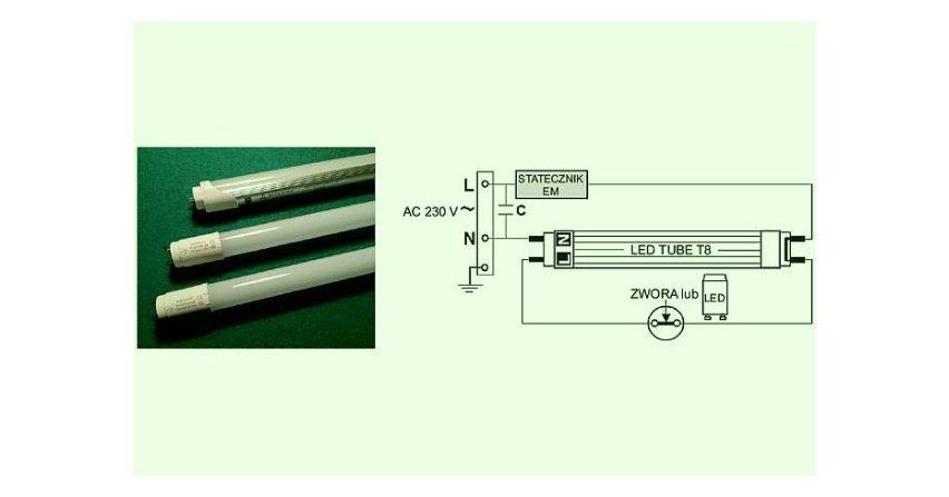 Energooszczędność retrofitów – tub LED w różnych konfiguracjach układów elektrycznych opraw oświetleniowych