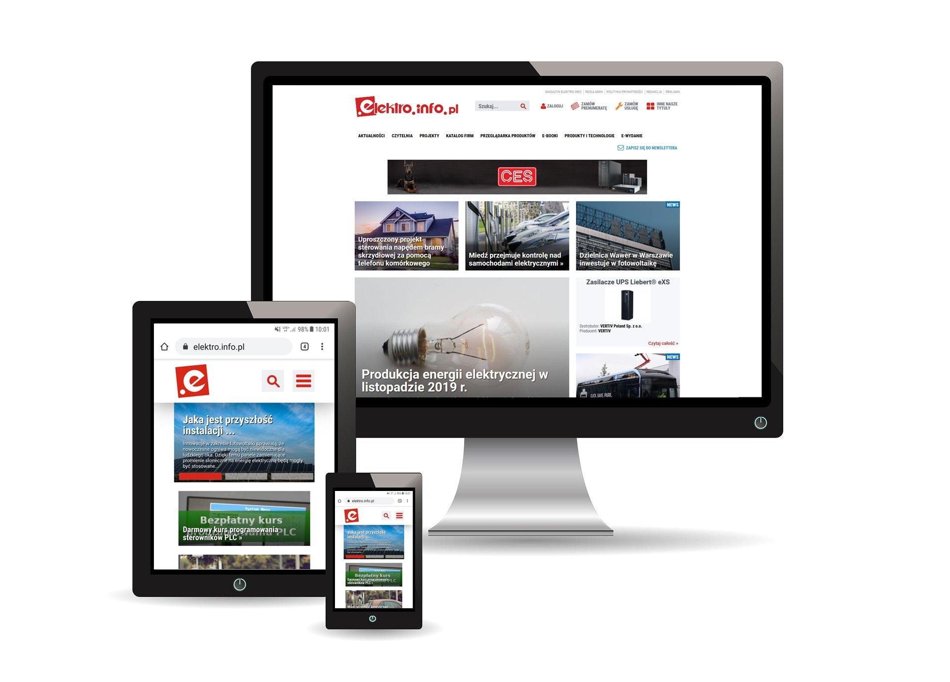Nowa strona internetowa www.elektro.info.pl!