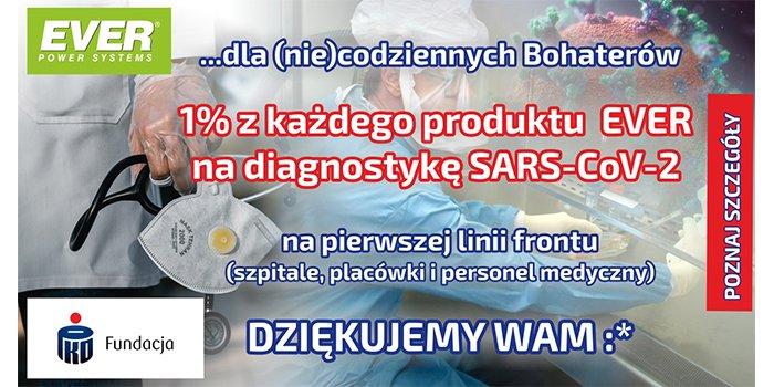 Firma EVER wspiera zbiórkę na rzecz walki z koronawirusem