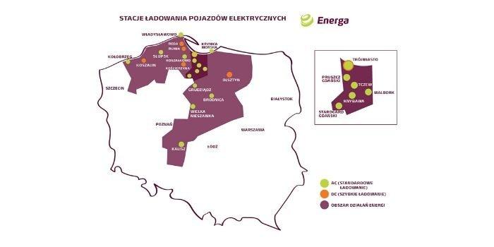 Nowe stacje ładowania pojazdów elektrycznych od Energa
