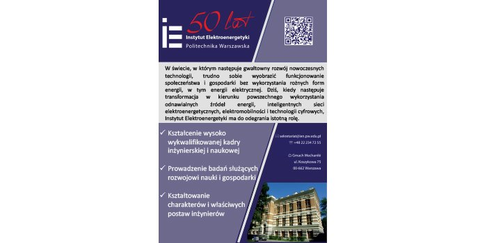 50-lecie powołania Instytutu Elektroenergetyki na Politechnice Warszawskiej