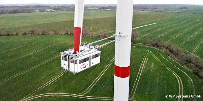 Platforma serwisowa ułatwi naprawę śmigieł wiatraków