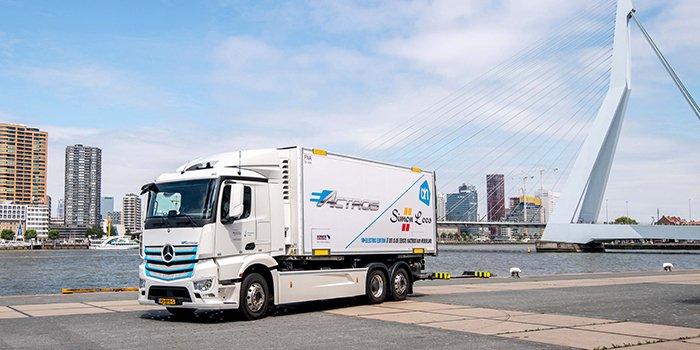 Rusza drugi etap testów elektrycznej ciężarówki Mercedesa eActros