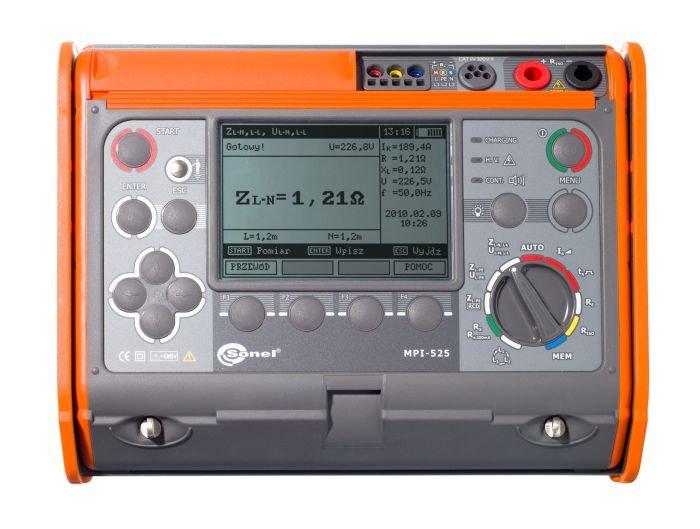 Wielofunkcyjne mierniki instalacji elektrycznych WMPLMPI525