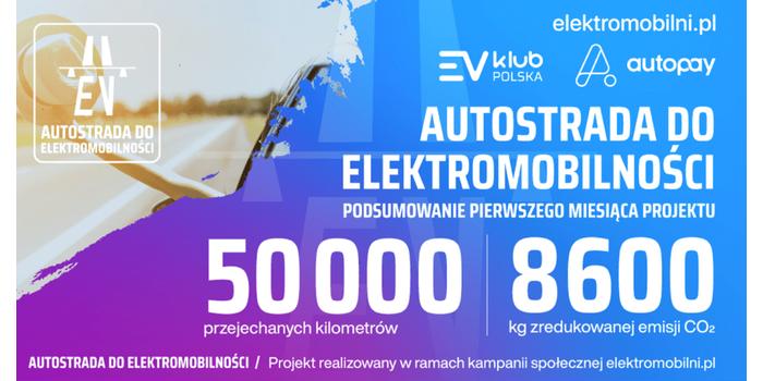 """Pierwszy miesiąc akcji """"Autostrada do elektromobilności"""""""