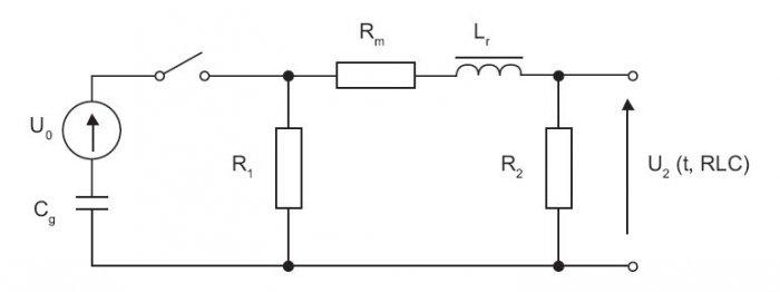 Schemat obwodu generatora udaru kombinowanego