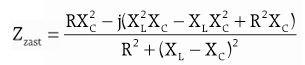 Wzór na wyliczenie zespolonej impedancji zastępczej