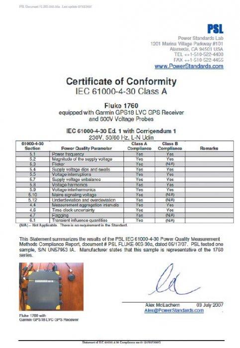 Rys. 1. Przykładowy certyfikat zgodności [11]