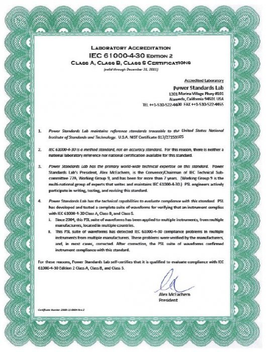 Rys. 2. Informacja o akredytacji PSL [11]