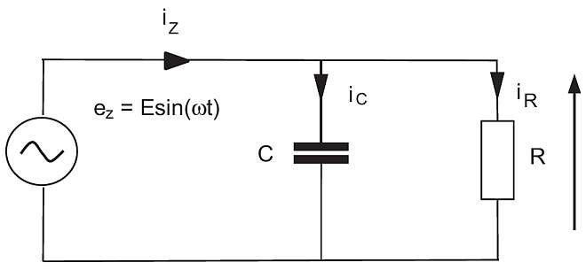 Rys. 1.  Układ RC zasilany ze źródła napięciowego