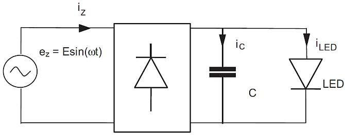 Rys. 4.  Układ z odbiornikiem w postaci diod LED