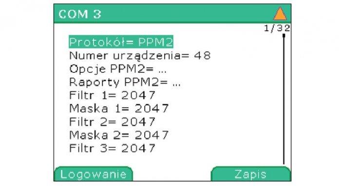 Rys. 2. Okno edycji parametrów interfejsu CAN oraz protokołu PPM2 w urządzeniu Mupasz 710 plus