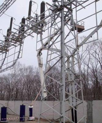 Rys. 11.   Próba odbiorcza linii kablowej XLPE o długości 13,35 km na napięcie 220 kV. System probierczy OWTS HV250 jest podłączony do jednej  z faz linii kablowej