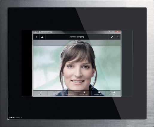 Fot.1. Przykład panelu sterującego w zaawansowanym systemie inteligentnego domu ze zintegrowanym wideo domofonem [3]
