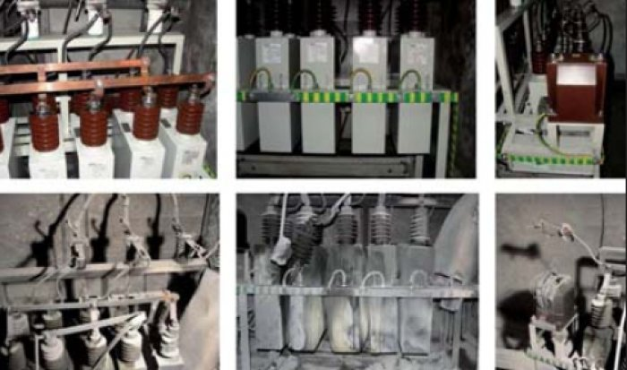 Fot. 1. Przykładowa instalacja do kompensacji mocy biernej przed i po awarii