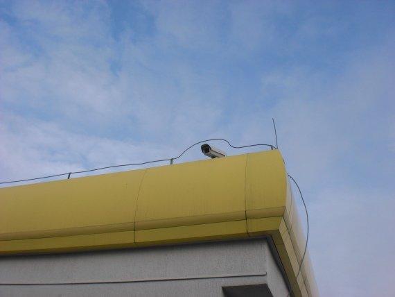 Fot. 11 Kamera nadzorująca pracę stacji benzynowej