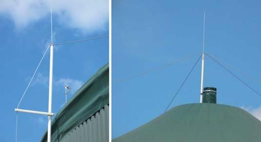 Fot. 2. Ochrona odgromowa zbiorników o grubości ścianek mniejszej od wymaganej