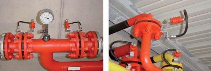 Fot. 4. Przykłady montażu iskierników