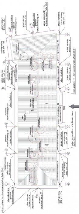 Rys.1. Plan zwodów oraz uziomów