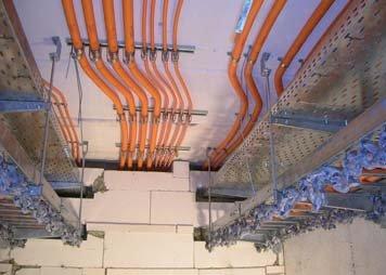 Zespół kablowy po badaniu odporności ogniowej