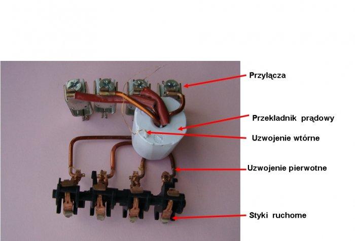 Fot.2. Przekładnik prądowy wyłącznika różnicowoprądowego typu P304