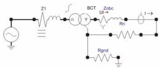 Rys. 11 Przykład zastosowania elementu BCTRAN