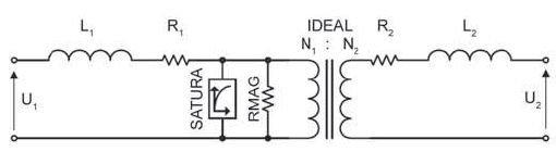 "Rys. 4 Schemat zastępczy elementu ""Saturable 1 Phase"" [3]"