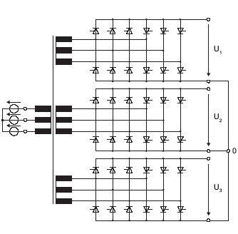 Rys. 1. Topologia przekształtnika bezpośredniego wraz z transformatorem