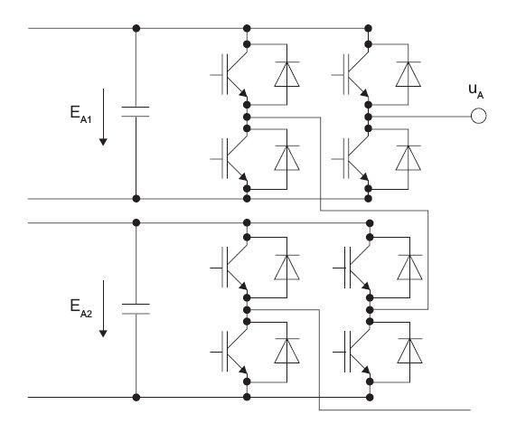 Rys. 10. Schemat gałęzi pięciopoziomowego przekształtnika typu Multiple-H-Bridge