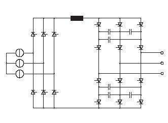 Rys. 2. Przykładowa topologia przekształtnika prądu