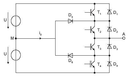 Rys. 5. Schemat gałęzi trójpoziomowego przekształtnika typu NPC