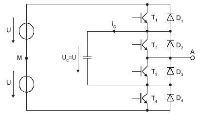 Rys. 6. Schemat gałęzi trójpoziomowego przekształtnika typu IC
