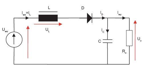 Rys.4. Obwody przepływu prądu przy otwartym kluczu S