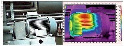 Fot. 2 Zespół napędowy oraz jego termogram