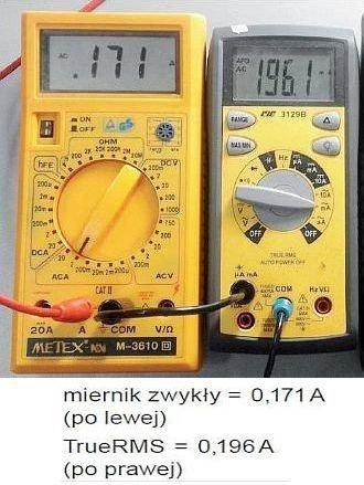 Rys. 7.  Faktyczny prąd w przewodzie neutralnym »0,2A; rys. K. Wincencik, M. Jaraczewski