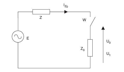 Rys. 1.   Pomiar pętli zwarciowej metodą spadku napięcia