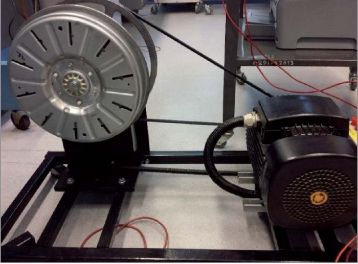 Rys. 3. Model prądnicy uzyskanej z silnika Direct Drive, widok z drugiego boku